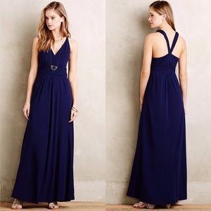 NWT Anthropologie Maeve Blue Yuma Maxi Dress